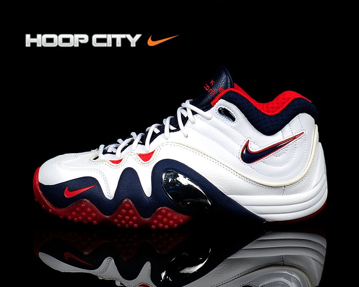 Nike Zoom Uptempo V Premium 'White/Midnight Navy-Sport Red'