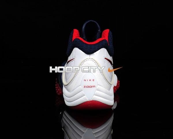 Nike Zoom Uptempo V Premium 'White/Midnight Navy-Sport Red'