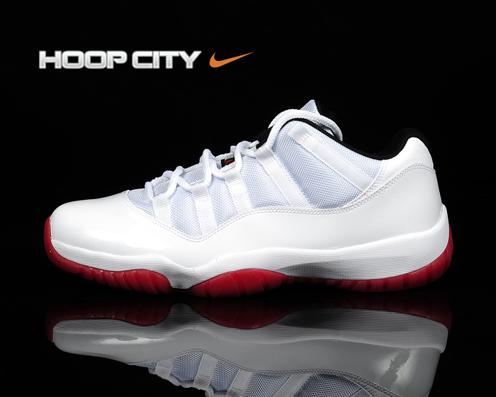 Air Jordan XI (11) Low 'White/Black-Varsity Red' Hitting Overseas Retailers