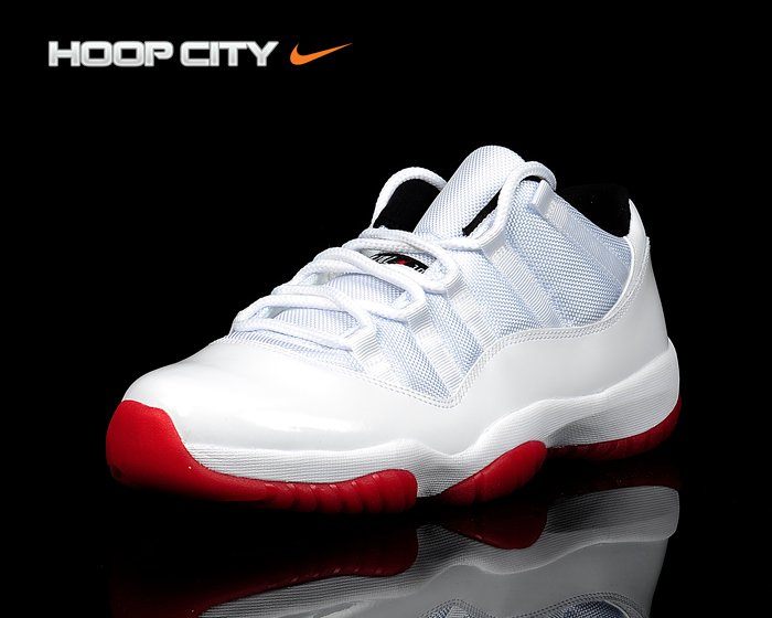 Air Jordan XI (11) Low 'White/Black-Varsity Red' Hitting Overseas Retailers