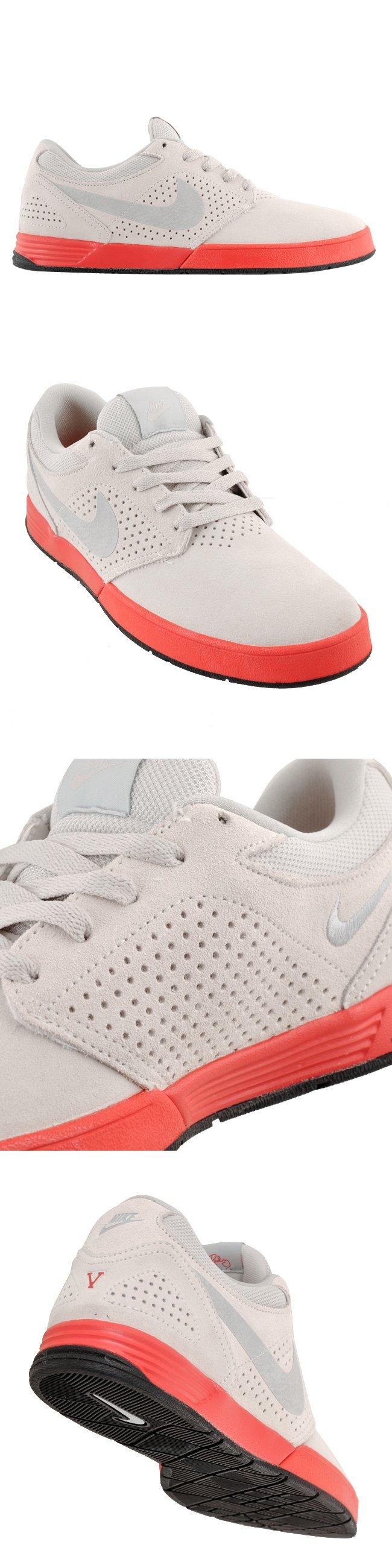 Nike SB P-Rod 5 'Swan/Metallic Platinum-Atomic Red-Black'