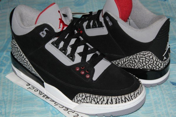 Air Jordan III (3) 'Black/Cement' Unreleased Nubuck Sample