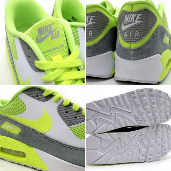 Nike Air Max 90 Hyperfuse PRM 'Volt/Wolf Grey'