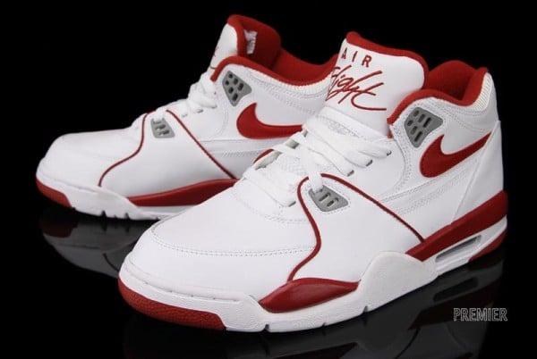 Nike Air Flight 89 'White/Wolf Grey-Varsity Red'