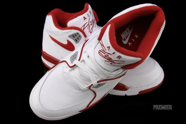 Nike Air Flight 89 'White/Wolf Grey-Varsity Red'