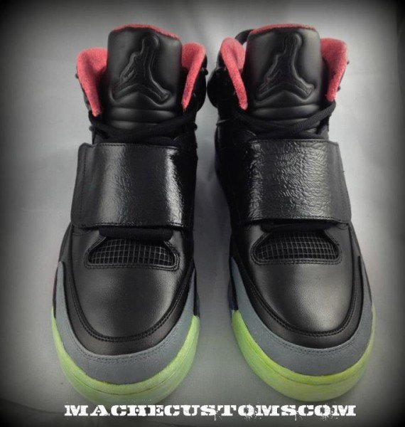 Jordan 'Son of Yeezy' Customs by Mache Custom Kicks - Detailed Images