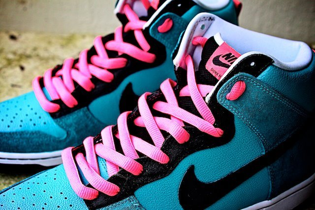 Nike SB Dunk High 'South Beach' Customs by Proof Culture