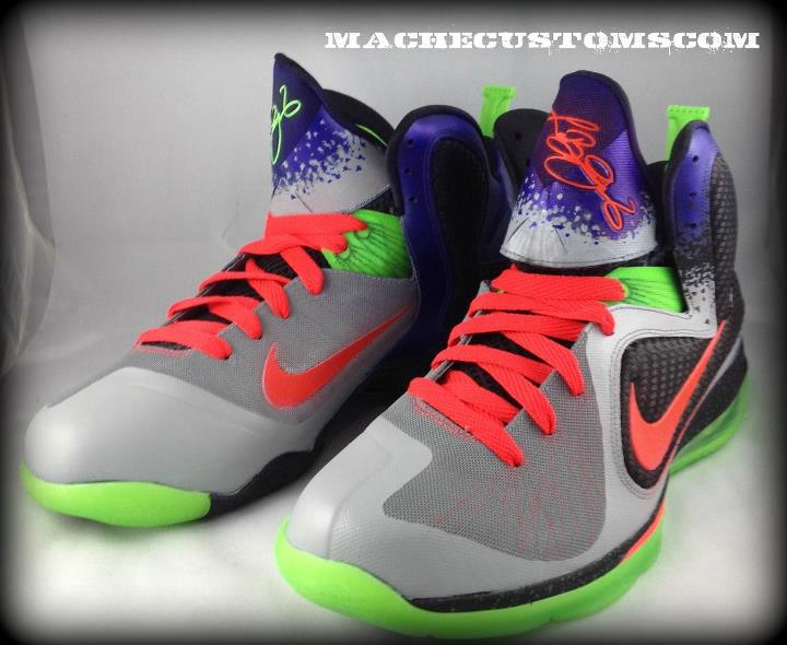 Nike LeBron 9 'Un-Nerf' Customs by Mache
