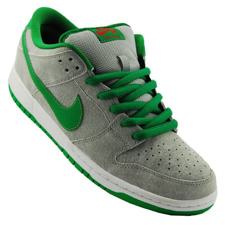 Nike SB Dunk Low 'Matte Silver/Classic Green-Varsity Red'
