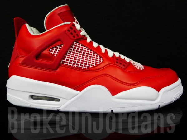 Air Jordan 4 Extrait Blanc Rouge