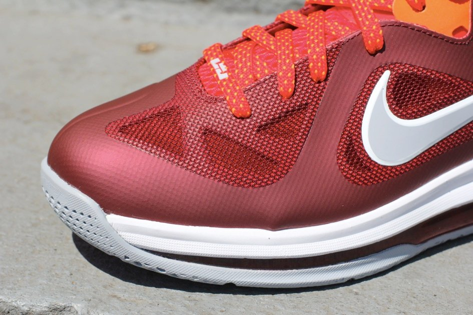 buy popular e9591 9f3eb Nike LeBron 9 Low  Team Red Challenge Red-Wolf Grey  - Now