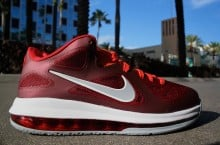 Nike LeBron 9 Low 'Team Red/Wolf Grey-Challenge Red-Total Orange' at Mr. R Sports