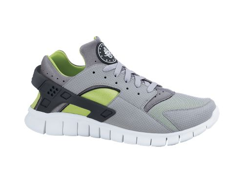 Nike Huarache Free 2012 'Wolf Grey/Cool Grey-Action Green'