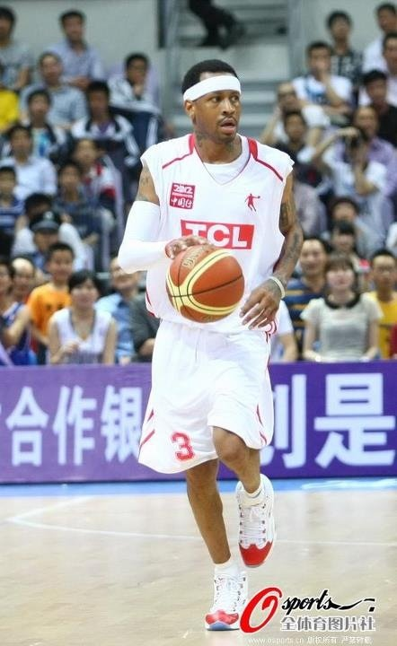 Allen Iverson Rocking the Reebok Question in China