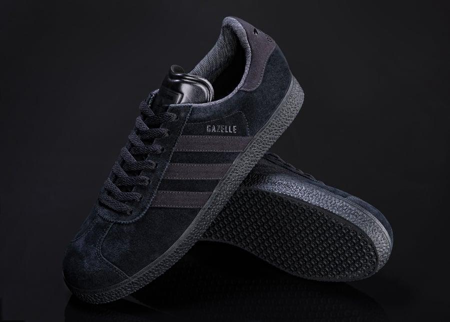 adidas gazelle black black