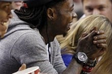 Celebrity Sneaker Watch: Lil Wayne Sits Courtside in the '49ers' Diamond Turf II