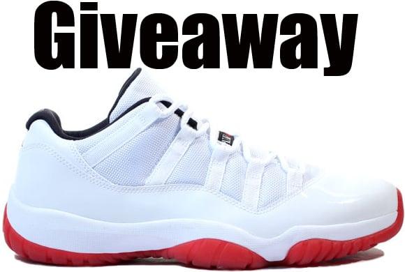 Giveaway: Air Jordan 11 Low White Red