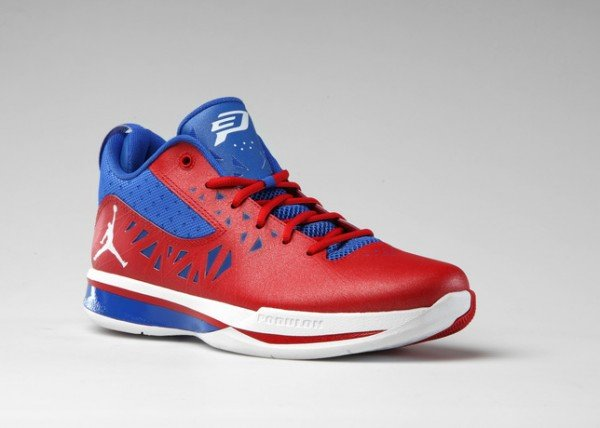 Jordan CP3.V 'Sport Red/White-Treasure Blue'