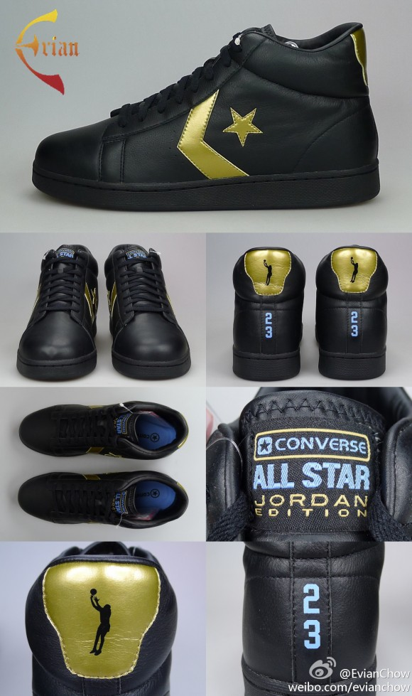 Michael Jordan x Converse Pro Leather 'Black/Gold' Sample