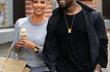 Celebrity Sneaker Watch: Kanye West Rocking Jordans Alongside Kim Kardashian in NYC
