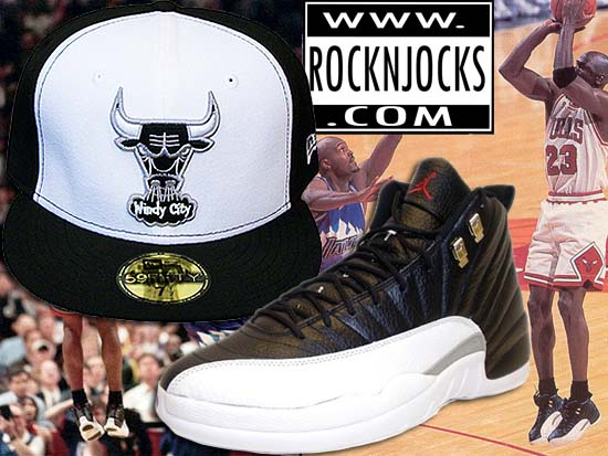 New Era Chicago Bulls Fitted Matching the Air Jordan 12 Playoffs