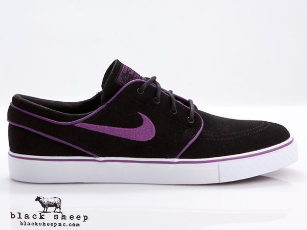 Nike SB Stefan Janoski 'Black/Vintage Purple-White' - Now Available