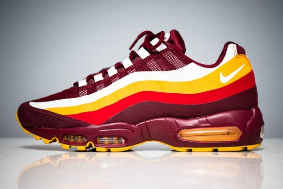 Nike Air Max 95 No-Sew 'Washington Redskins'