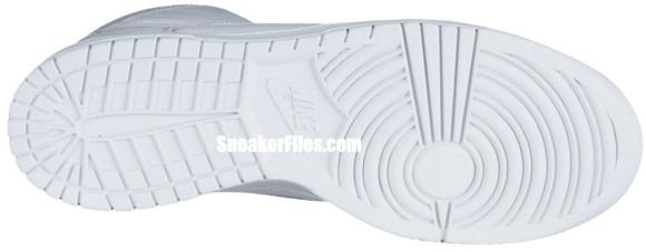Nike Dunk High 'White/White-Neutral Grey'
