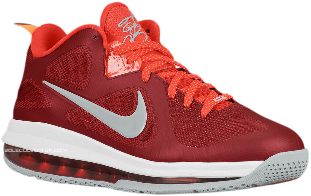 brand new 64de4 e9c42 Nike LeBron 9 Low  Team Red Challenge Red-Wolf Grey
