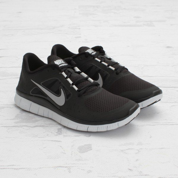 best service c70bf db6ce Nike Free Run+ 3  Black Reflective Silver-Platinum