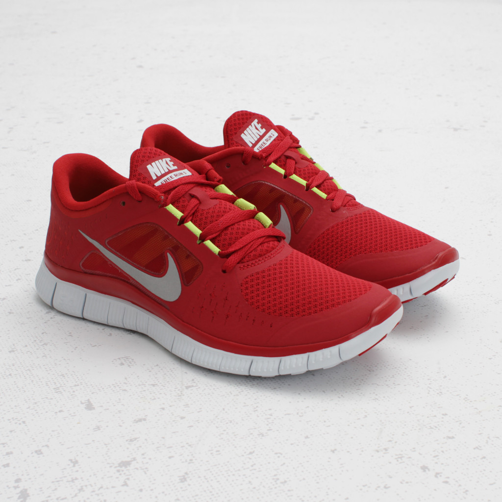 nike free run 3 39 gym red 39 now available at concepts. Black Bedroom Furniture Sets. Home Design Ideas