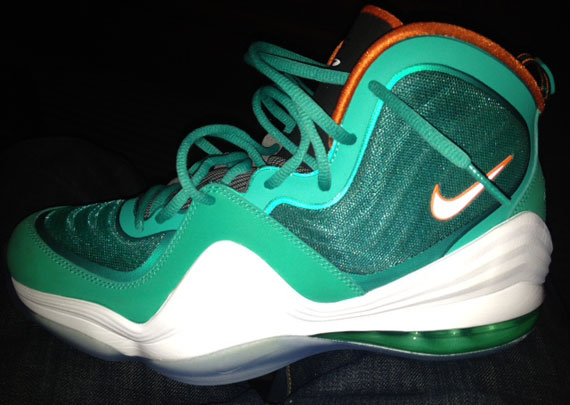 Nike Air Penny V 'New Green/Safety Orange-White'