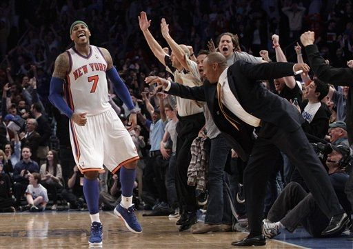 Carmelo Anthony Hit Game-Winner in Blue Suede PE