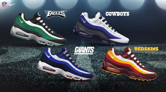 Release Reminder: Nike Air Max 95 No-Sew 'NFC East'