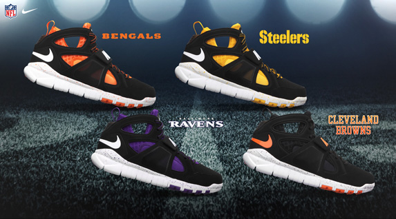 Release Reminder: Nike Huarache Free Shield 'AFC North'