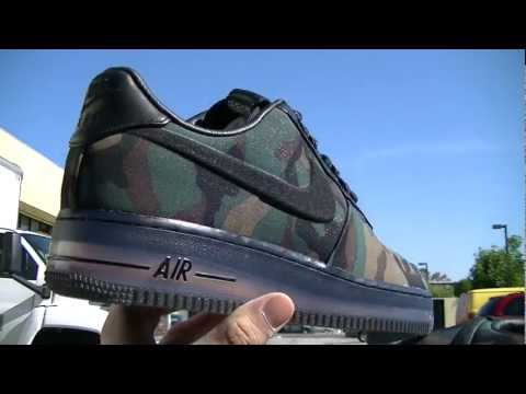 Video  Nike Air Force 1 Low Max Air VT QS  Camouflage  at Millenium Shoes  47dc22d83
