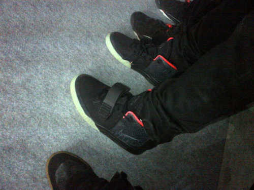 various colors cbfc5 7b2e2 Nike Air Yeezy 2  Black Solar Red  - New Image
