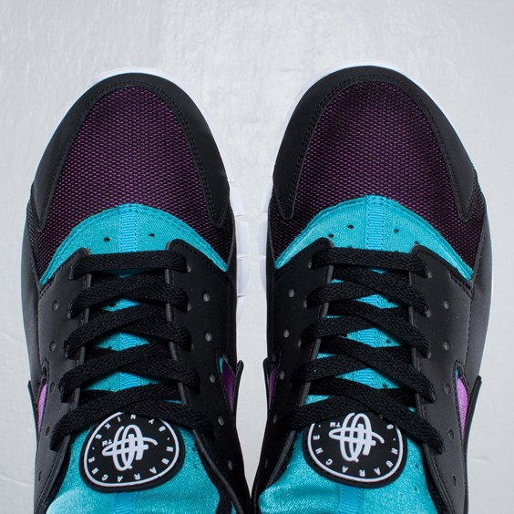 Nike Huarache Free 2012 'Black/Turquoise Blue-Magenta'