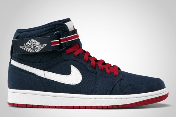 Air Jordan 1 High Strap Midnight Navy/Varsity Red-Sail