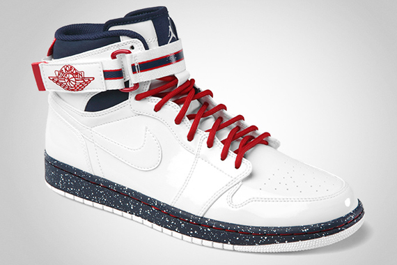 Air Jordan 1 High Strap Premier White/White-Varsity Red-Midnight Navy