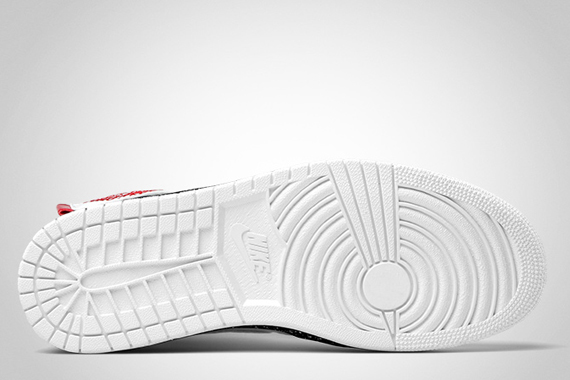 Air Jordan 1 High Strap Premier White/White-Varsity Red-Midnight Navy