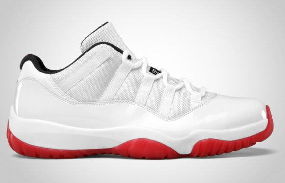 Air Jordan 11 Low White/Varsity Red-Black - Official Images