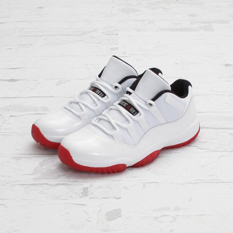 Air Jordan 11 Low 'White/Varsity Red-Black' - One Last Look
