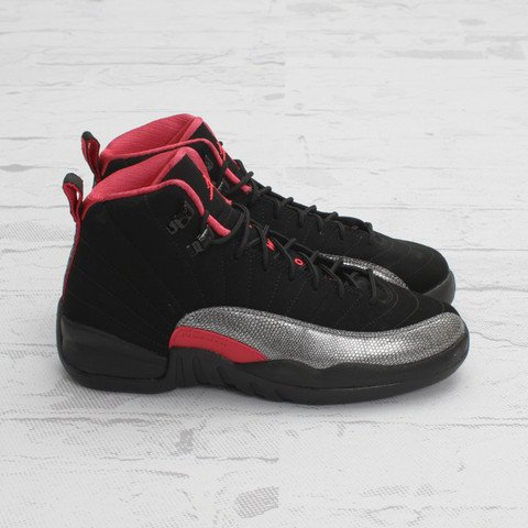 Air Jordan 12 GS 'Black/Siren Red'
