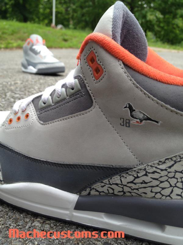 Air Jordan 3 'Pigeon' by Mache Custom Kicks