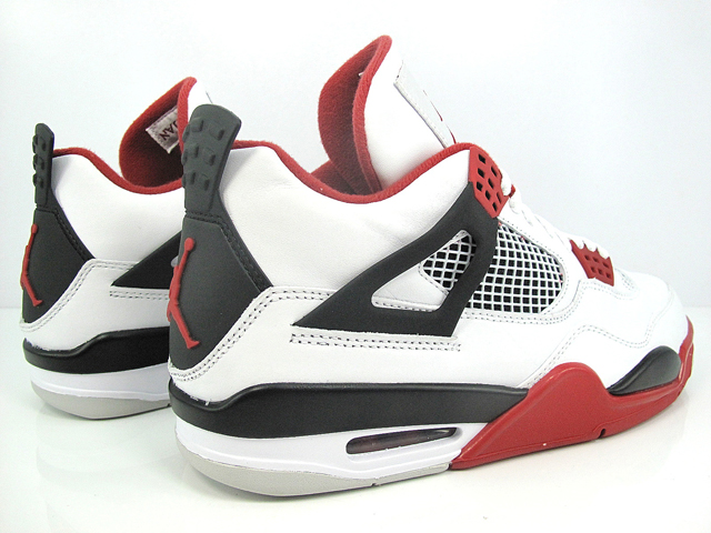 low priced 764b0 371c8 ... low cost air jordan 4 white varsity red black another look 44d97 cc1f6
