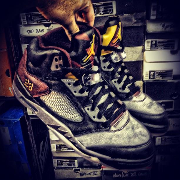 Air Jordan 5 'Bordeaux' by Mache Custom Kicks