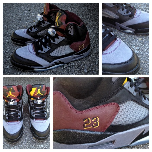 Air Jordan 5 'Bordeaux' by Mache Custom Kicks