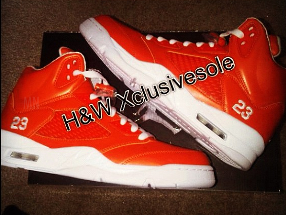 Air Jordan 5 'Metallic Orange' Sample