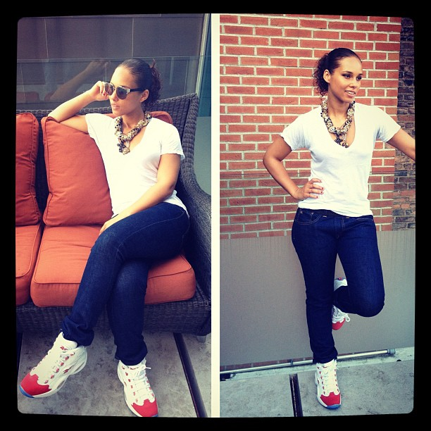 Alicia Keys Rocking the Reebok Question Mid